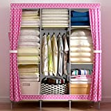 Generic New Reinforced Large Portable Closet Folding Clothes Wardrobe Bedroom Furniture