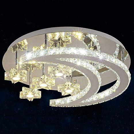Luces de techo - Luxury LED Circular Crystal Ceiling Light ...