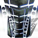 07 crf250r dual exhaust system - 3D 13-Piece Custom Fuel / Gas Tank Pad Protector Decal / Sticker Black + Chrome Blue