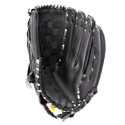 Portzon Baseball Gloves, Baseball Mitts Pitcher, Left Hand Baseball Leather, Outdoor Sports Softball Gloves Man Woman Training Practice