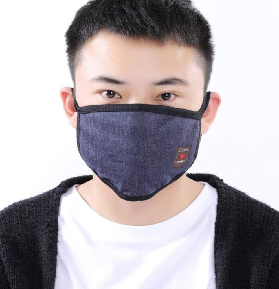 LIUQIAN Etiquetado de los Hombres máscara de Mezclilla de imitación de Invierno cálido máscara de Polvo cálido de Invierno máscara Acolchada Caliente