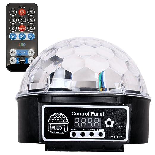 El Día Disco LED Efecto de luz bola discoteca Magic RGB Proyector ...