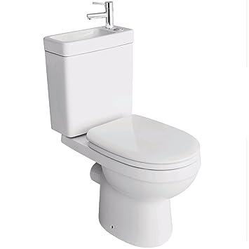 Bevorzugt Stand-WC mit Spülkasten, Waschbecken und Wasserhahn, WC LI58