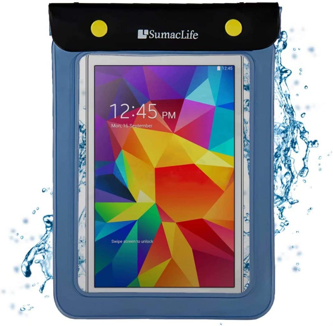 Tablet Waterproof Case Dry Bag for Lenovo Tab P10, Tab M10, Tab E10, Yoga Tab 3 Pro, Tablets up to 8.5 inch (Blue)
