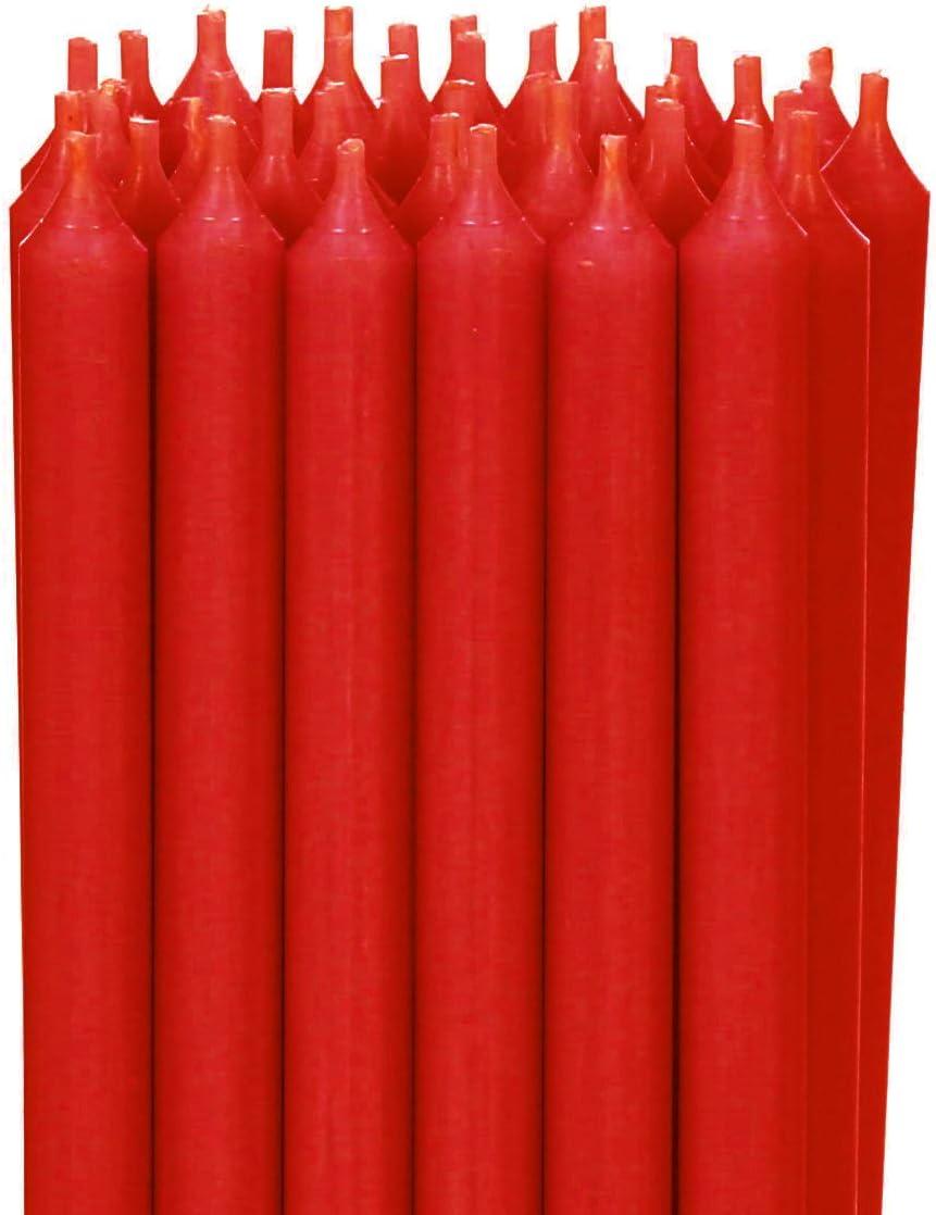 B/ütic GmbH Candele Colorate 250 mm x 13 mm Candele Altamente pulite combustione Senza residui.