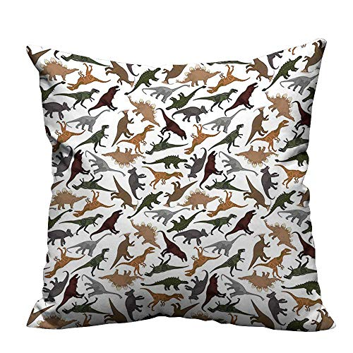 (YouXianHome Decorative Couch Pillow Cases Dinosaurs Enormous Museum History y Easy to Wash(Double-Sided Printing) 24x24 inch )