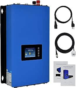 ECO-WORTHY 1000W MPPT Solar Grid Tie Inverter Power Limiter DC 22 to 65V Solar Input AC 110V PV System