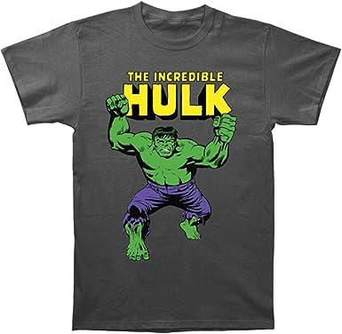 Amazon Com Men S Marvel Comics The Hulk Incredible T Shirt Medium Grey Clothing