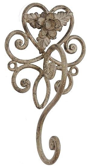 Clayre /& Eef 6Y0168 Handtuchhalter Handtuchring Metall creme dunkel Patina