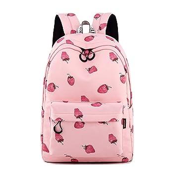 Las mochilas impermeables rosadas de señora Strawberry Printing mochila mochilas escolares para adolescentes Pink 30(cm) X13(cm) X40: Amazon.es: Equipaje