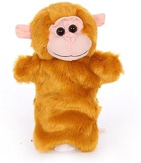 EEvER Giocattoli educativi delle Marionette da Dito Giocattolo della Peluche del Fumetto della Peluche del Giocattolo della Peluche di Animale farcito Sveglio della Peluche (Scimmia dell'oro)