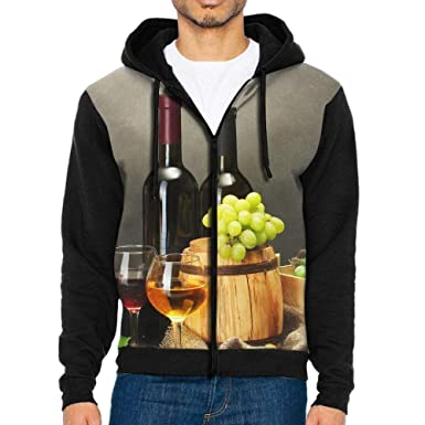b98489161ab3 Grape Wine Man 3D Print Hooded Sweatshirts with Kangaroo Pocket Zipper  Jackets