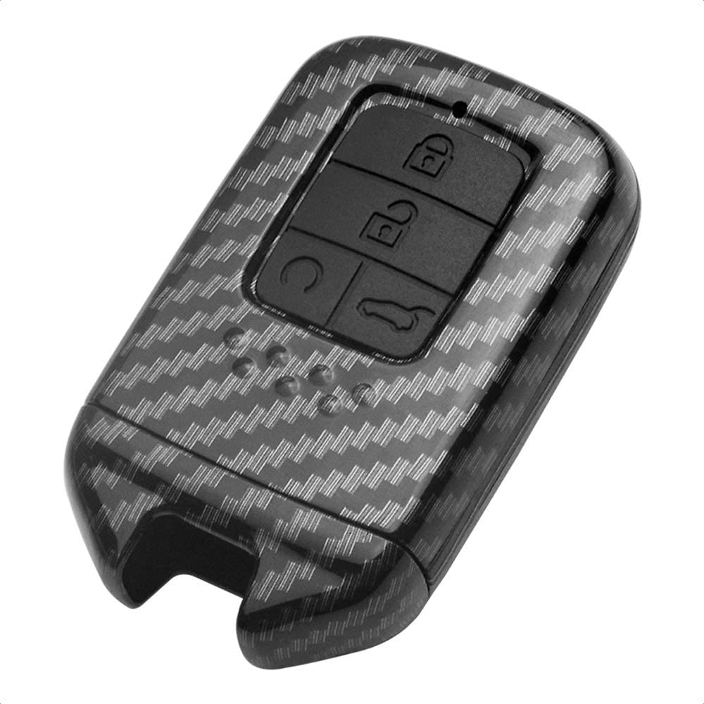 TANGSEN Smart Key Fob Case for HONDA BEZEL CIVIC JADE S660 SHUTTLE 2 Button Keyless Entry Remote Personalized Protective Cover Plastic Carbon Fiber Texture