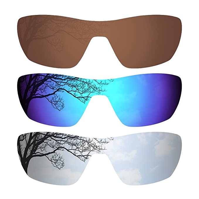db5a2c607f Image Unavailable. Image not available for. Colour  3 Pairs Polarized Lenses  for Oakley Offshoot Sunglasses Brown Deep Blue ...