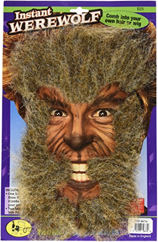 Facial Hair Halloween Costumes (Instant Werewolf Facial Hair)