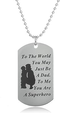 Father/'s Day Dog Tag Father/'s Day Jewelry Necklace Best Dad Ever Necklace Mens Dog Tag Necklace Custom Daddy Jewelry