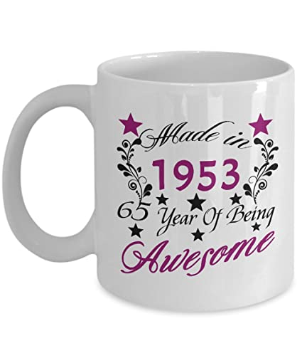 Happy 65th Birthday Mugs For Women Her 11 OZ
