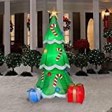 CHRISTMAS INFLATABLE 6.5 CHRISTMAS TREE W/ CANDY CANES AND GIFTS OUTDOOR YARD DECORATION BY GEMMY
