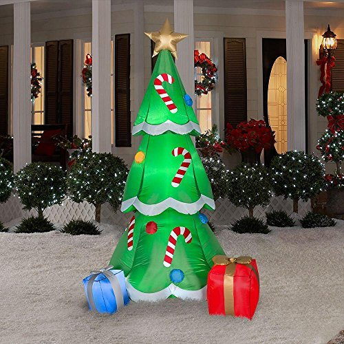 Christmas Blow Up Decorations For Outdoors - CHRISTMAS INFLATABLE 6.5' CHRISTMAS TREE W/ CANDY CANES AND GIFTS OUTDOOR YARD DECORATION BY GEMMY