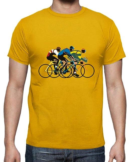 latostadora - Camiseta Retro Tour para Hombre Amarillo Mostaza S