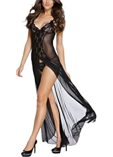 c379b8181d Sheer Lace Robe with Thong Sexy Lingerie for Women for Sex Lace Lingerie  Set Sleepwear