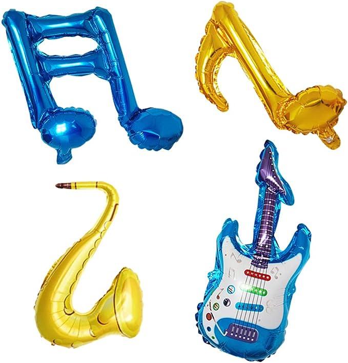 TOYANDONA 6 UNIDS Nota Musical de Aluminio Globos Globos de ...