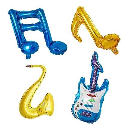 Toyvian 6 unids Conjunto Musical Nota Globos Foil Party Globos Globo de Instrumentos Musicales para cumpleaños
