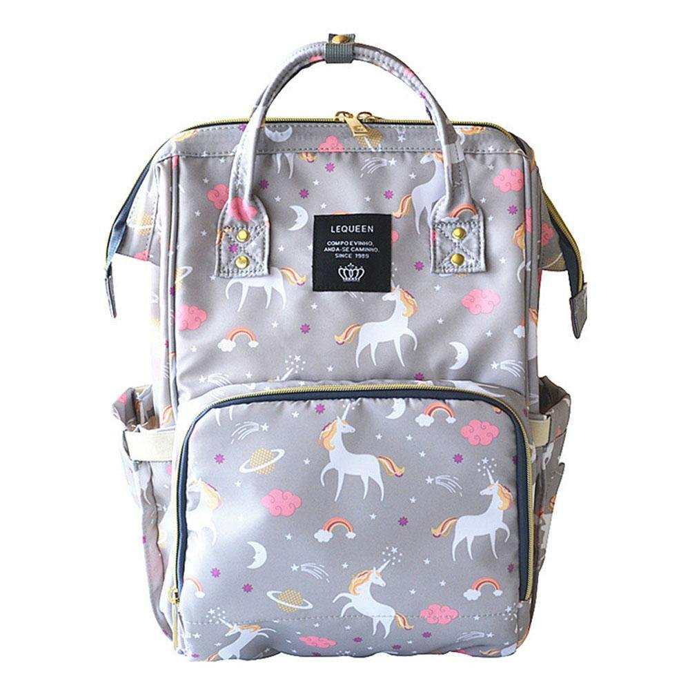 Pawaca Large Capacity Diaper Bag Anti Theft Mummy Diaper Backpack Unicorn Pattern Multi Function Bag Waterproof Baby Bottle Maternity Nappy Nursing Bag for Baby Care