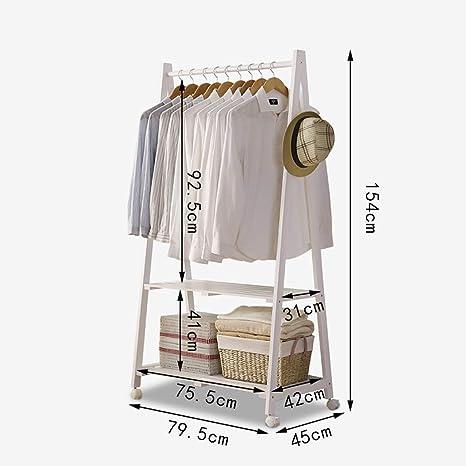 LF Coat rack Perchero de Madera Maciza con Cama Enrollable ...