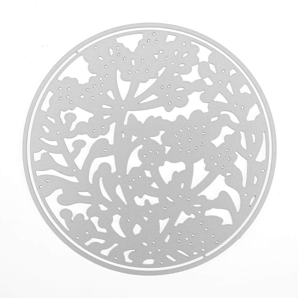 Demiawaking Cerchio di Fiori di Farfalle Fustelle per Scrapbooking Metallo Cutting Die DIY Scrapbooking Album Foto Segnalibro Goffratura Craft Stencil per Biglietti di Auguri