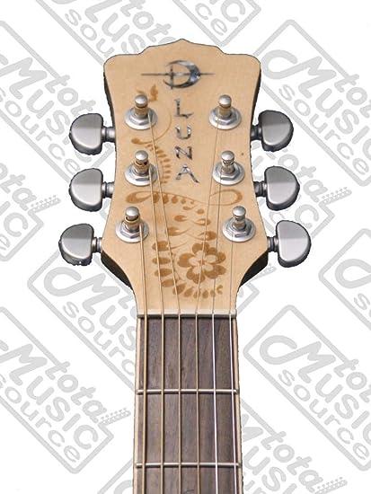 Luna Henna Oasis Spruce acústica guitarra eléctrica, nueva gallina ...