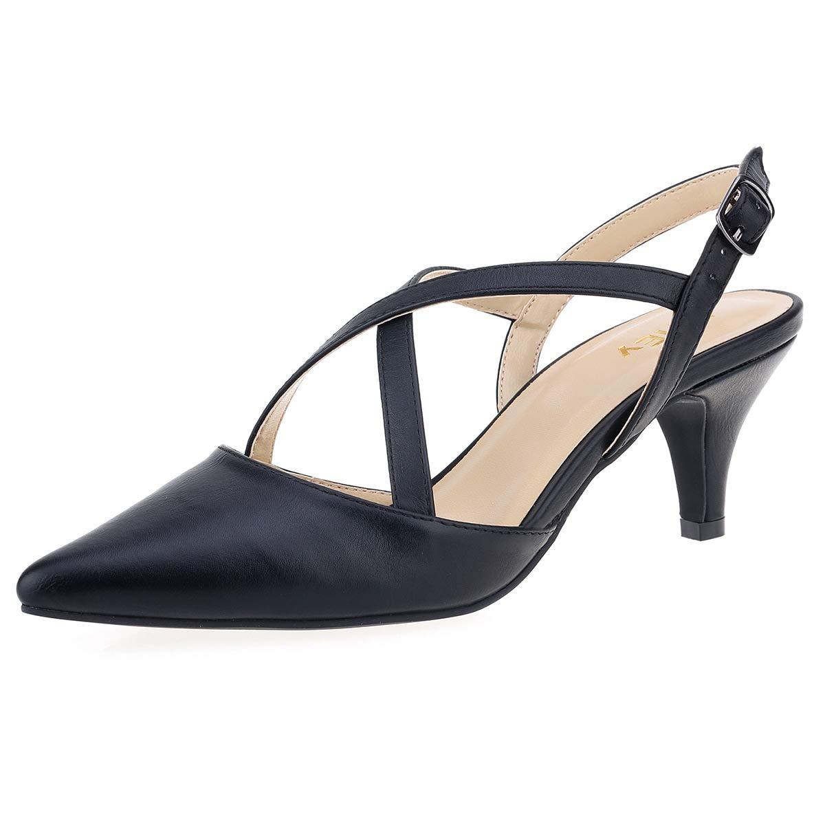Amazon Com Zriey Women S Comfortable Low Heel Mid Heel Sandals 2