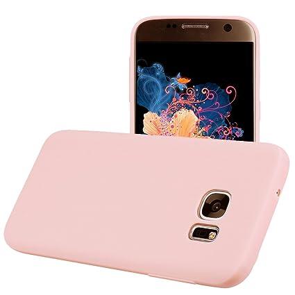 Funda Samsung Galaxy S7 EDGE, Yunbaozi Protective Case Carcasa Caucho Funda Protectora de Silicona Gelatina Caramelo Ultra Suave Flexible Delgado ...
