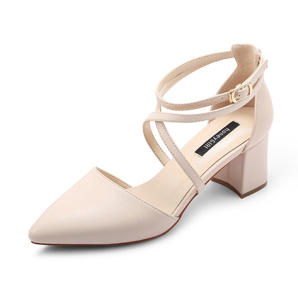 JE shoes Weibliche High Heel Cross Straps Schuhe mit Absatz
