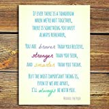 """Winnie The Pooh Quote PRINT - """"If Ever There Is A Tomorrow When We're Not Together"""" A Beautiful Gift! Choose From 7""""x5"""" or 14""""x10"""". DISNEY Quote."""