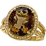 Genuine Smoky Quartz Ring by Effy Collection 14kt Gold