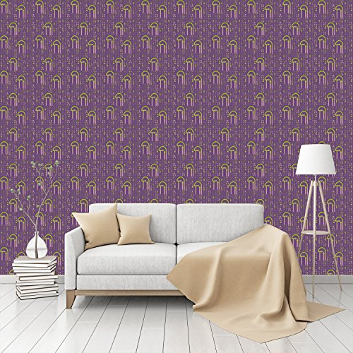 Numerus Clausus Patterned Commercial Textured Wallpaper by CustomWallpaper.com (80s Characters)