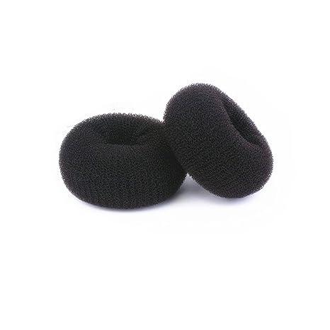 JIAHAO - Molde para hacer moños de donut, tamaño grande, color negro