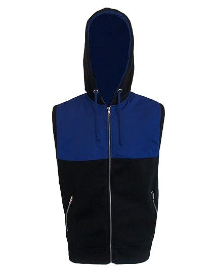 258234d56f5ba Avec doublure en polaire pour homme Veste Gilet sans manches à capuche Sweat  à capuche à fermeture Éclair sur le dessus  Amazon.fr  Vêtements et  accessoires