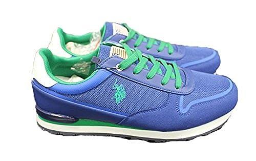U.S.POLO ASSN. - Zapatillas de Material Sintético para Hombre Azul ...