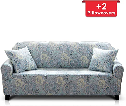 4 Seaters Stretch Sofa Slipcover Couch Cover Polyester Spandex Furniture Cover