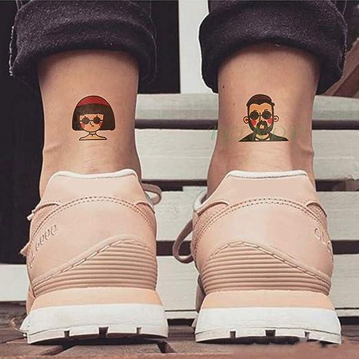 tzxdbh 7pcs Adhesivo Impermeable del Tatuaje Chica pies MUÑECA ...