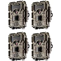 Bushnell Trophy Cam Aggressor 14MP Low Glow HD Game Trail Camera, Camo (4 Pack)