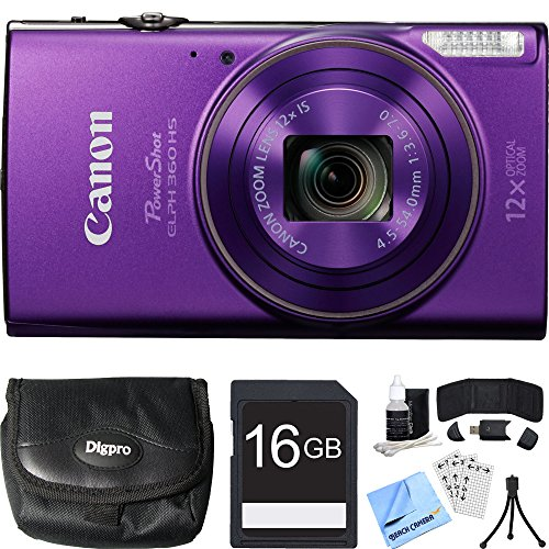 canon-powershot-elph-360-hs-purple-digital-camera-16gb-card-bundle-includes-camera-16gb-memory-card-