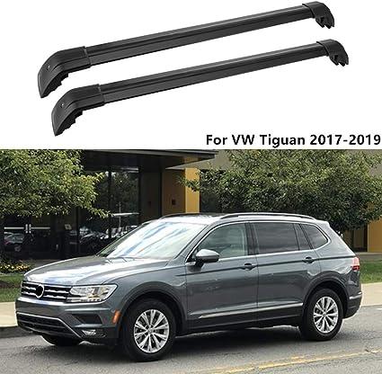 MotorFansClub Roof Rack Rail Cross Bar Crossbar for Volkswagen Tiguan 2017-2019 Baggage Luggage Rack Rail Aluminum
