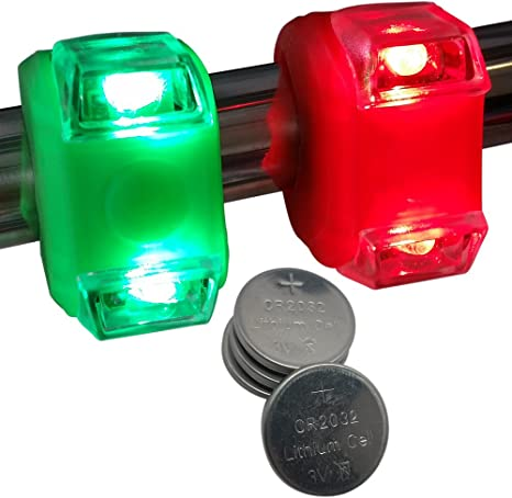 Bright Eyes Green Red Portable Marine Led Boating Lights Boat Bow Or Stern Safety Lights Water Resistant