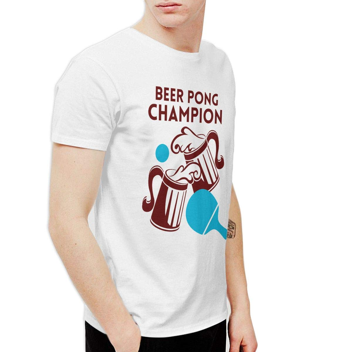 Xiantangrenwang Beer Pong Champion Classic Party Short Sleeve Shirts