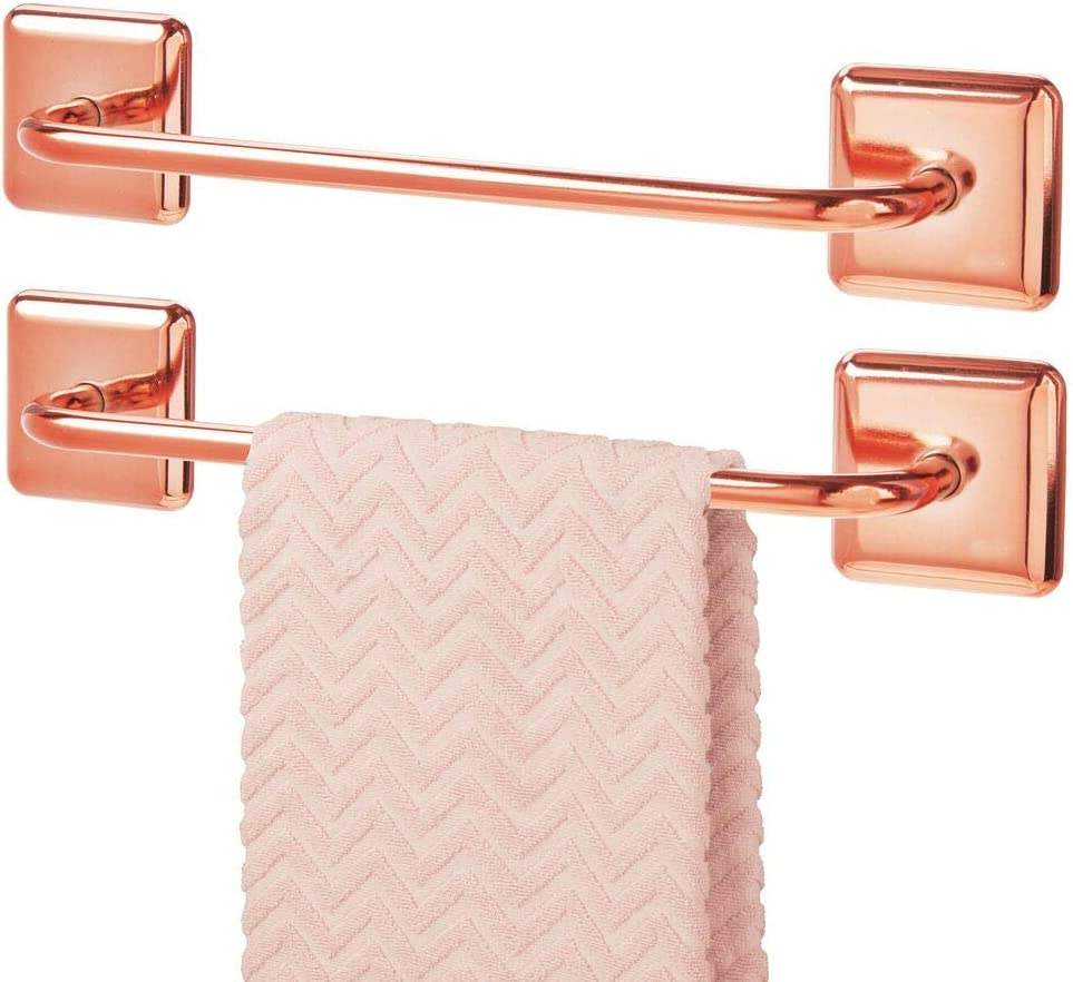 Toallero de almacenamiento de baño con autoadhesivo Rosa Oro