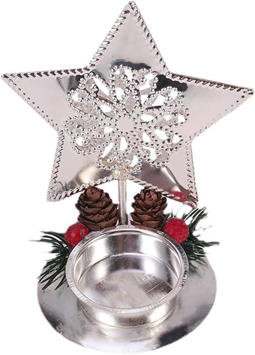 TOYANDONA Portavelas de Navidad con Forma de Estrella Decorativa ...