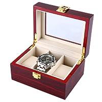 3 Griglie Cassa Orologio in Legno Trasparente Cover Gioielleria Organizer Alta qualità Orologio Display Box